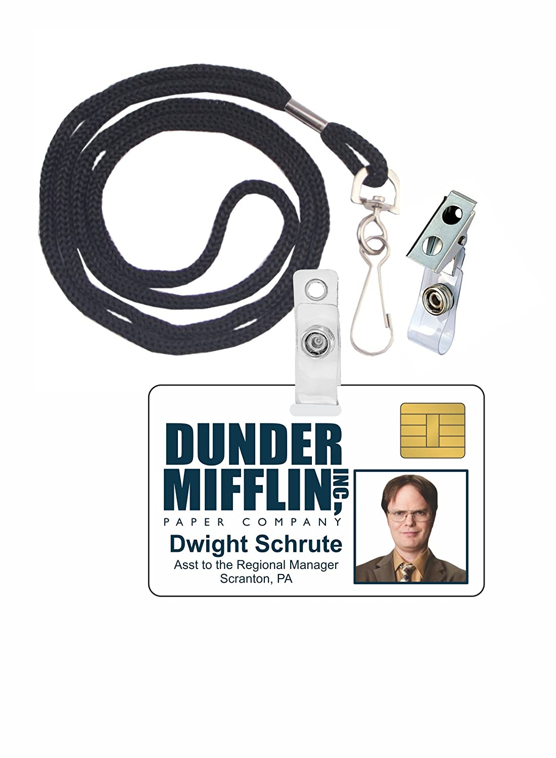 This is an image of Terrible Dwight Schrute Id Badge Printable