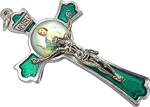 Hand Made St Jude Cross Medal Crucifix 3