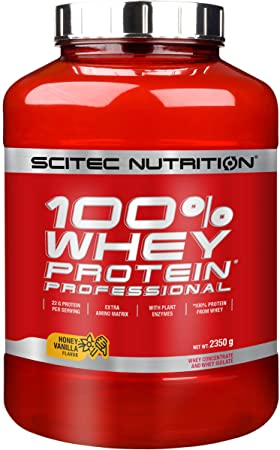 Scitec Nutritions Suplemento Dietético de Proteína en Polvo, sabor de Miel con Vainilla - 2350 g