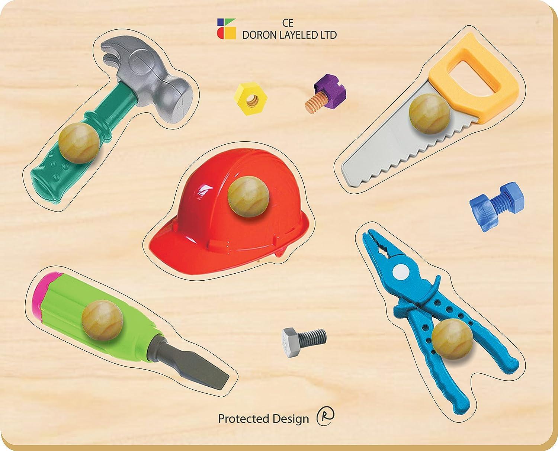 Edushape Large Knob Tools Puzzle (5 Piece) by Edushape