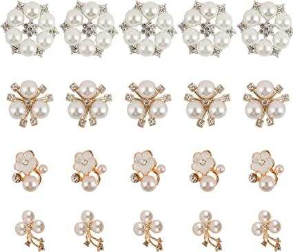 10x Rhinestone Jewelry Buttons Crystal Flower DIY Accessory Sewing Decoration ~~