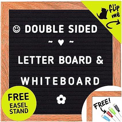 Pizarra de letras y pizarra blanca - Fieltro con soporte y ...