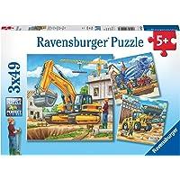 Ravensburger 9226 Construction Vehicle 3x49pc Children's Puzzle