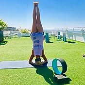 Exerz EXYW-001 Muscle Tension Release Rueda de Yoga Pilates Roller - para el Estiramiento, el Equilibrio, el Aumento de la flexibilidad y la Mejora de ...
