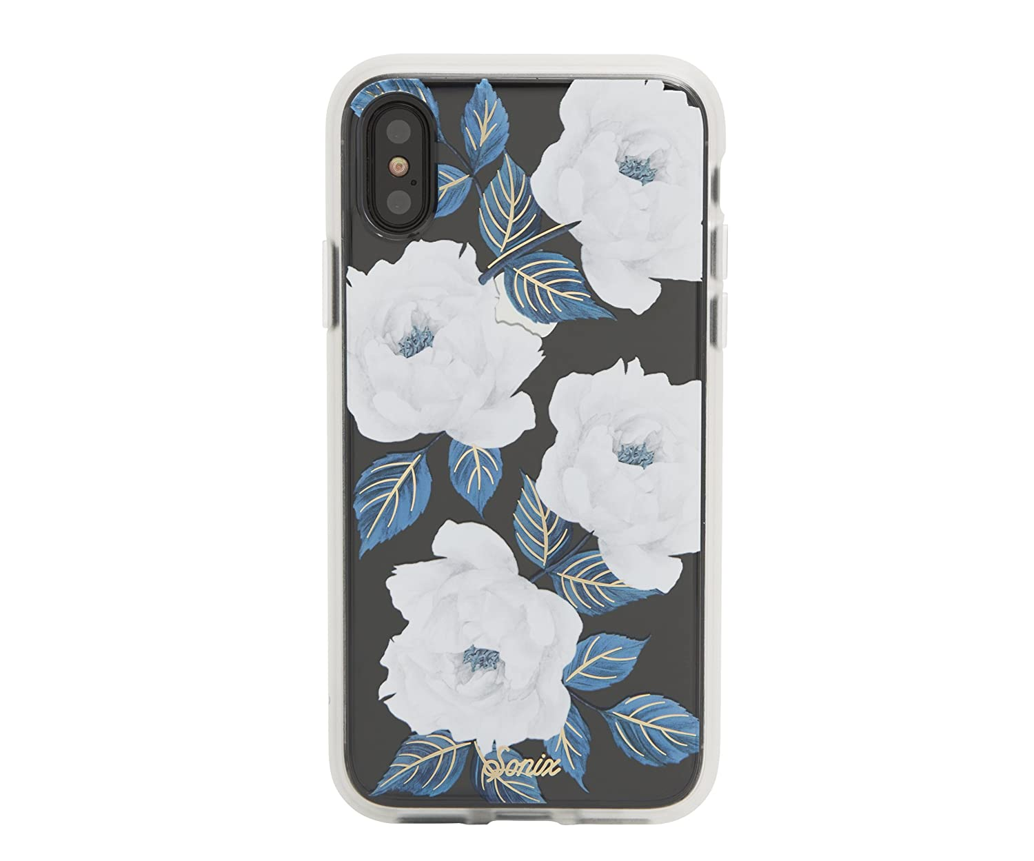 9ba6944bb29d9 iPhone Xs, iPhone X, Sapphire Bloom Cell Phone Case [Military Drop Test  Certified] Women's Protective Clear Case for Apple iPhone X, iPhone Xs