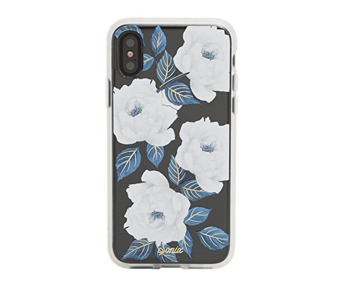 on sale 40e19 1c365 iPhone Xs, iPhone X, Sapphire Bloom Cell Phone Case [Military Drop Test  Certified] Women's Protective Clear Case for Apple iPhone X, iPhone Xs