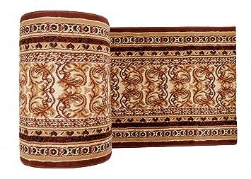 Klassischer Teppichläufer   Läufer Für Flur Wohnzimmer Küche   Beige Braun    Abstraktes Perser Muster