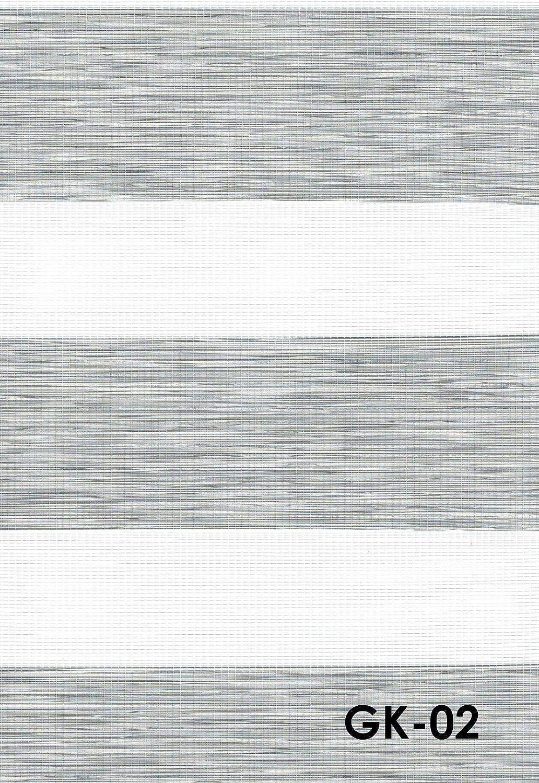 Duo Rollo Doppelrollo Farbe hell grau meliert Breite 160 cm Länge 250 cm mit breiter Beschwerung+ geschlossener Kassette+ Kettenzug Alternative zu Gardine oder Plissee (160 cm, 250 cm)
