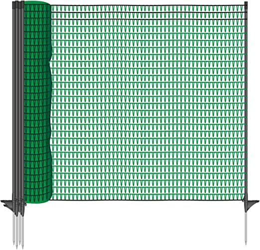 VOSS.farming Malla para Aves, Valla para jardín Universal Classic 20 m, 80 cm, 12 Postes, Verde: Amazon.es: Productos para mascotas
