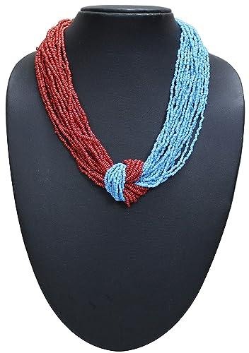 Buy Bhavika Fashion Opera Handmade Beaded Necklace Match ...