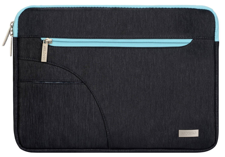 Negro /& Azul Caliente Poli/éster Caso Manga de la Cubierta del Bolso MOSISO Funda Protectora Compatible MacBook 12 Pulgadas con Pantalla Retina A1534 2017//2016//2015