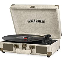 Amazon.com: Victrola Bluetooth Suitcase Record Player with 3 ...