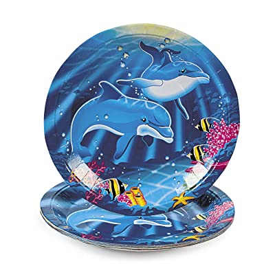 Dolphin Dinner Plates (8 pc): Toys & Games