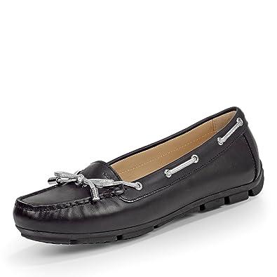 Bequeme schwarze Damen Schuhe Halbschuhe, echt Leder, Gr.37