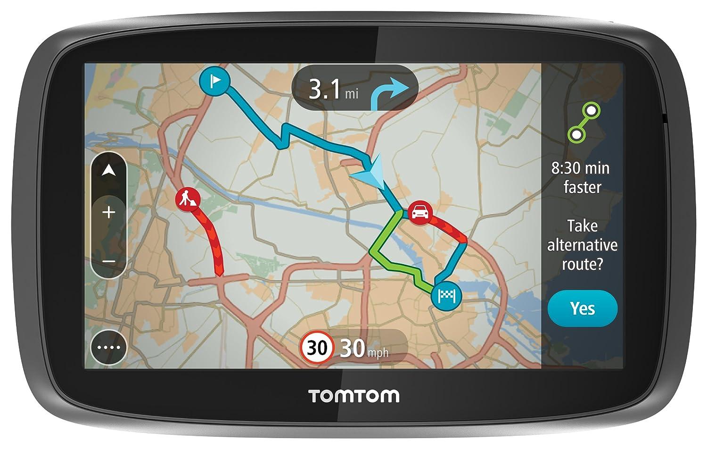 TomTom GO 600 UK & Ireland - 6' Sat Nav with Full UK & Ireland Lifetime Maps, Lifetime Traffic Updates, Smartphone Connected and Interactive Screen GO 600 UK & Ireland (UK-IE)