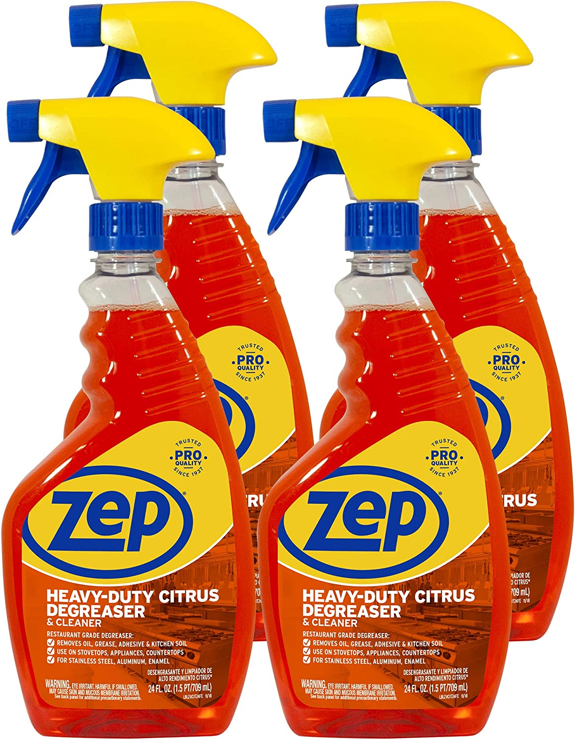 Zep Heavy-Duty Citrus Degreaser and Cleaner 24 Ounce (Case of 4)