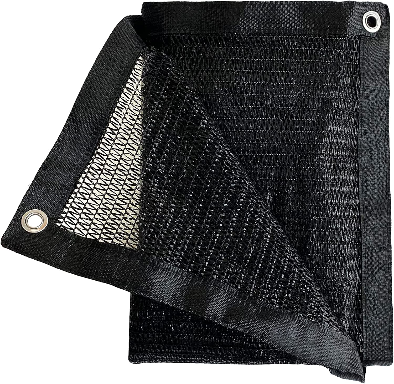 Garden EXPERT 50% Black Shade Cloth 8ft X 12ft Taped Edge with Grommets UV Resistant Sun Net Mesh for Garden Patio Backyard