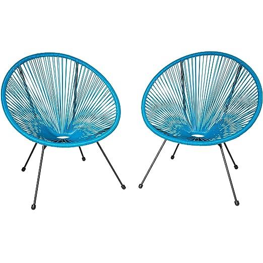 TecTake 800729-2 sillones Acapulco de jardín de diseño Retro ...