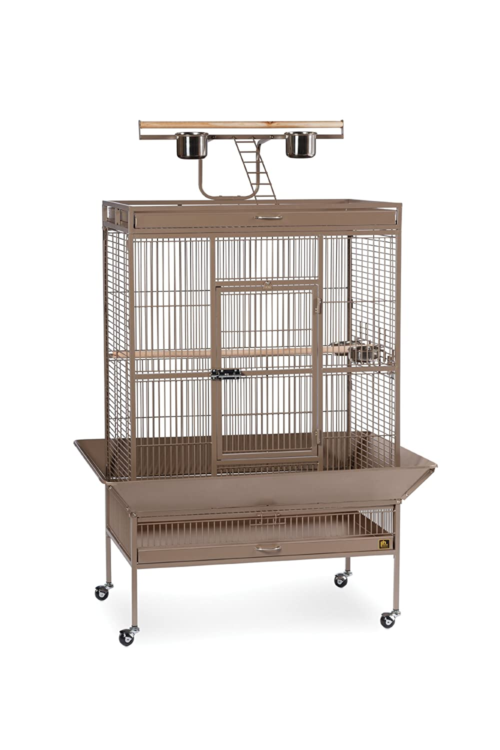 36-Inch by 24-Inch by 66-Inch Prevue Pet Products Wrought Iron Select Bird Cage, 36-Inch by 24-Inch by 66-Inch, Pewter