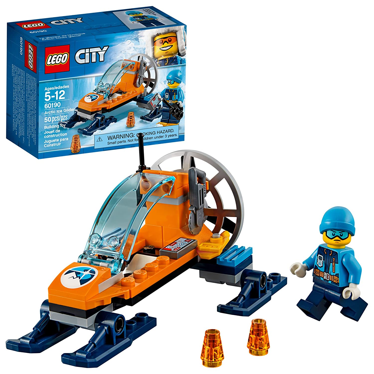 LEGO City Arctic Ice Glider 60190 Building Kit (50 Piece)