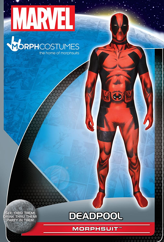 Morphsuits MLDPM - Deadpool trajes adultos, M, 150-165 cm, multicolor