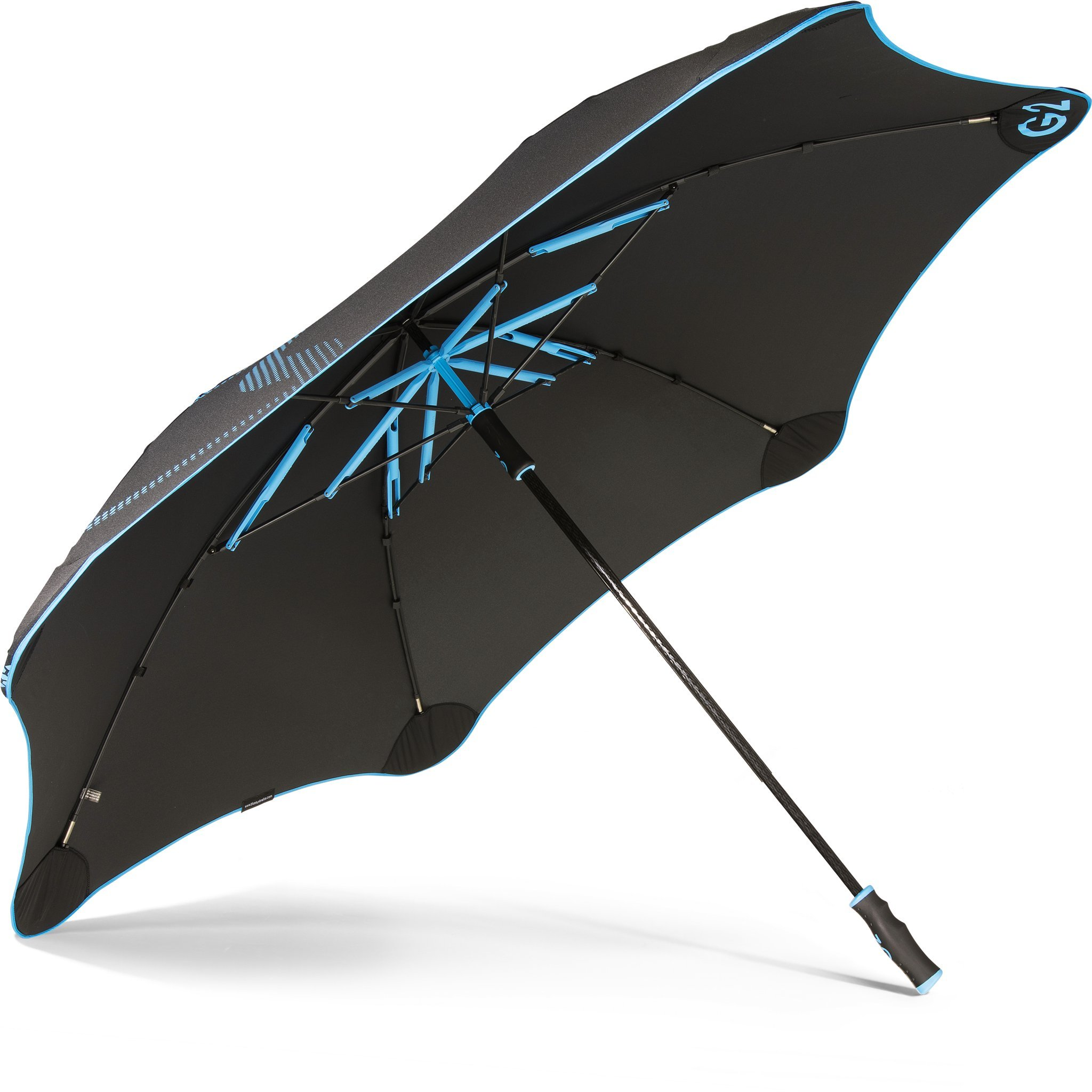 "BLUNT Golf Umbrella with 57.5"" Canopy and Wind Resistant Radial Tensioning System - Aqua Blue"