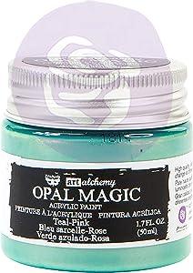 Prima Marketing Inc. Finnabair Art Alchemy-Opal Magic Acrylic Paint-Teal-Pink