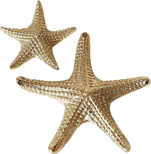 MC Trend - Juego de 2 Estrellas de mar marítimas de luz del Norte de la Playa, Agua, Accesorios para el hogar, cómodas, Mesa de Regalo, Idea de Regalo: Amazon.es: Juguetes y