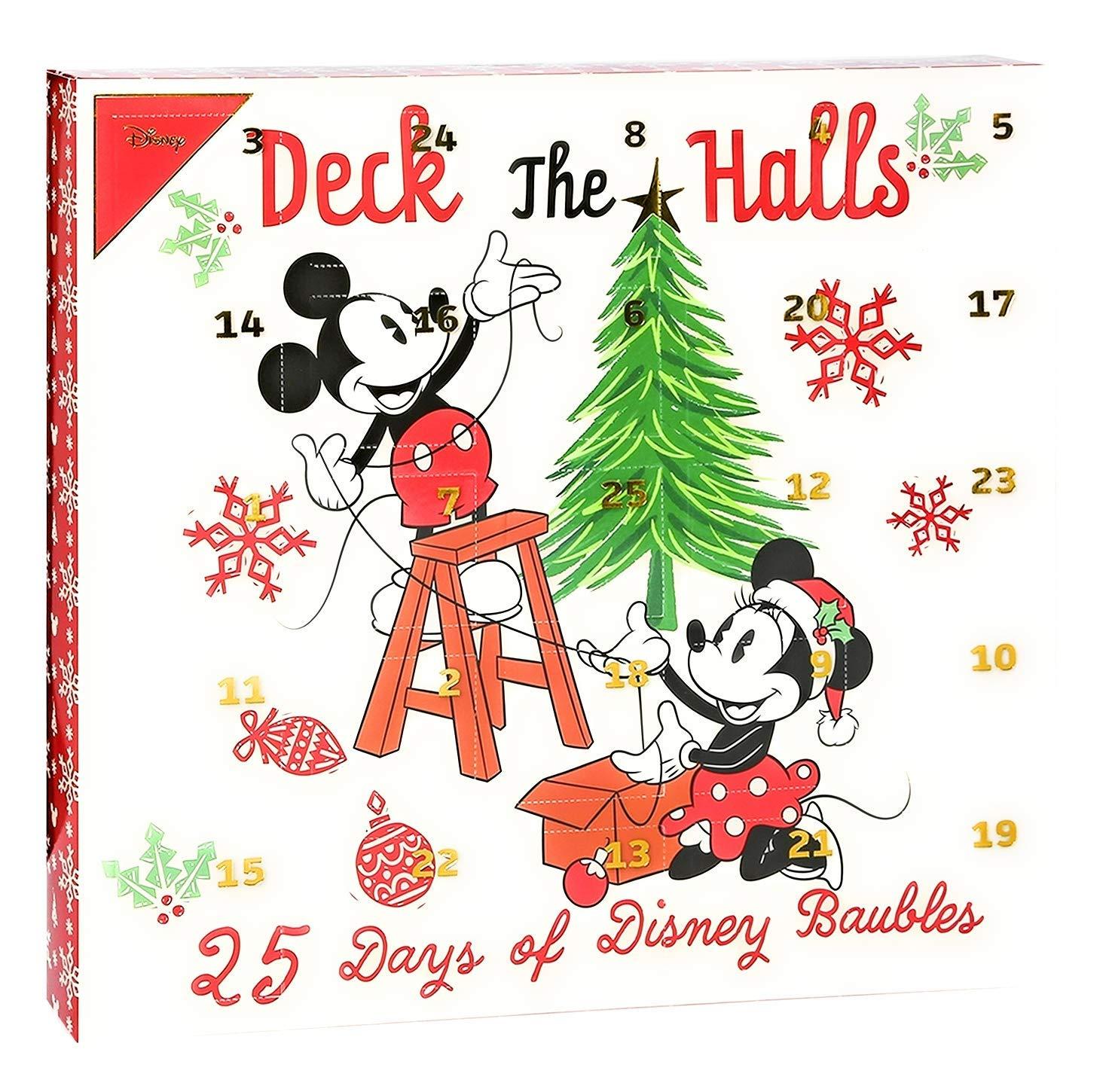 Disney Mickey Minnie Maus 25x Weihnachtskugeln Adventskalender 2019  Mouse