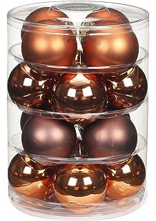 Christbaumkugeln Cappuccino.Amazon De Inge Glas 15060d001 Kugel 30mm 28 Stück Dose Cappuccino