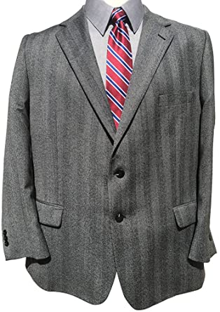 2c71d5ee092 Big and Tall Portly Short Executive Paneled Herringbone Sport Jacket (54  Portly Short)