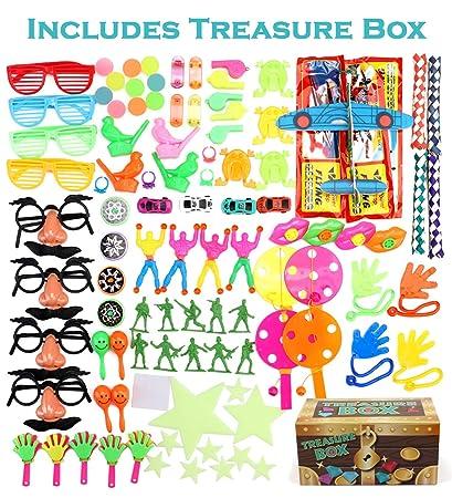 Amazon.com: Caja de tesoros premios para aula, 100 piezas ...