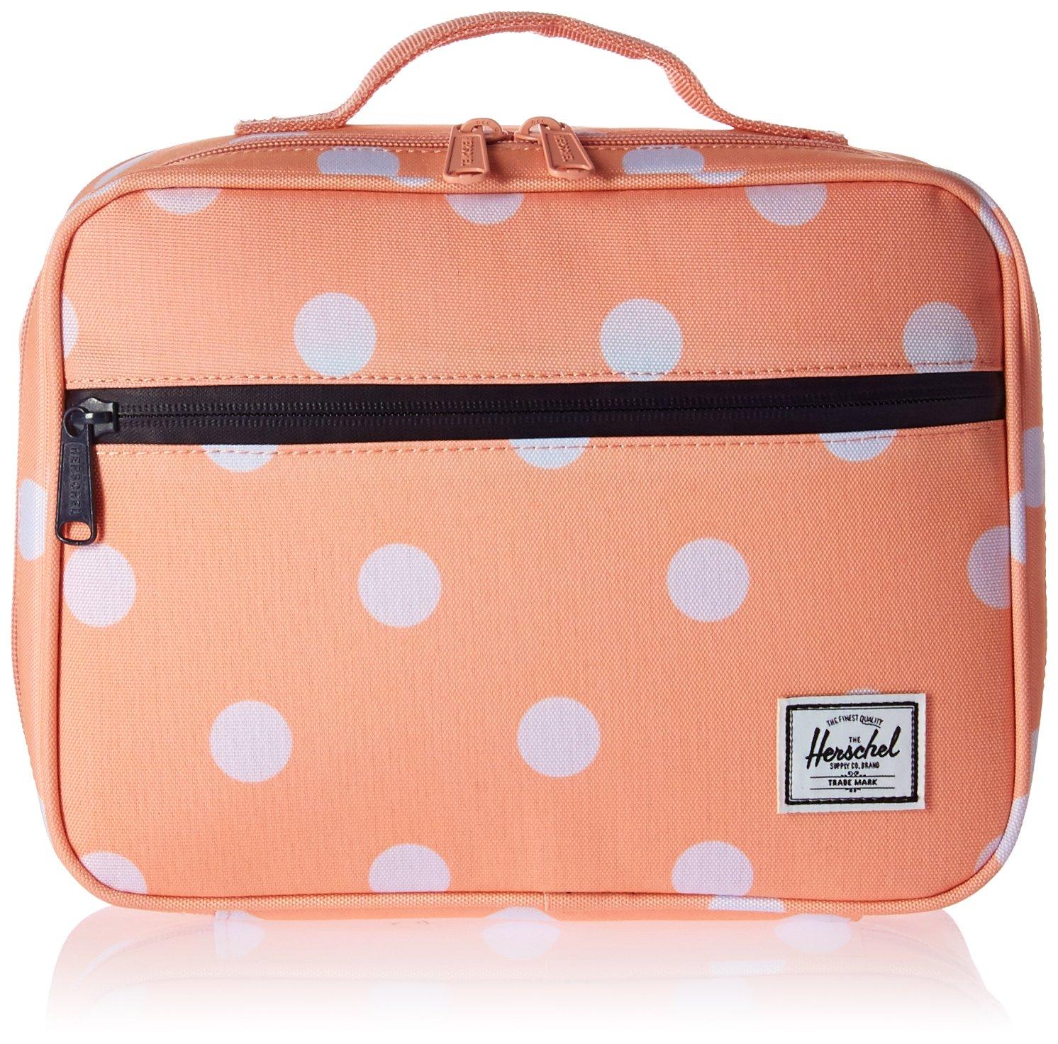 Amazon.com | Herschel Supply Co. Pop Quiz Lunchbox, Peach Polka Dot/Peacoat  | Travel Accessories