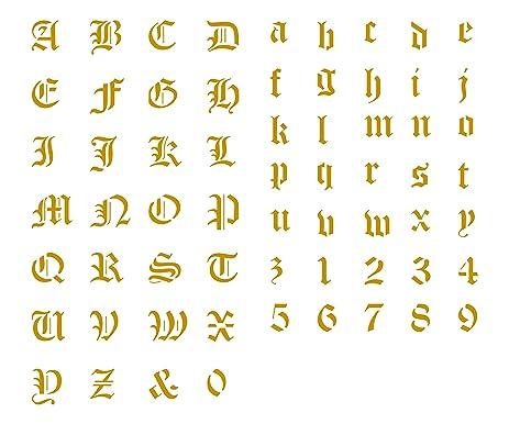 Amazon Old English Letter Stencil 1½