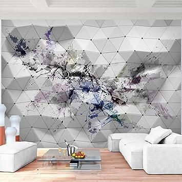 Fototapete 3D - Muster Rot Vlies Wand Tapete Wohnzimmer Schlafzimmer ...