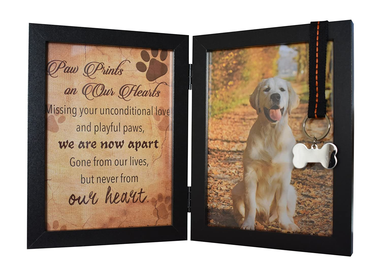 Pet urns memorial ideas pet memorial stones pet memorials pet memorial - Pet Memorial 5 X7 Picture Frame For Dog Or Cat With Ribbon And Tag Features A Folding Photo Frame And Sympathy Poem Loss Of Pet Gift