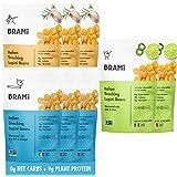 BRAMI Lupini Beans Snack, Variety Pack | 9g Plant Protein, 0g Net Carbs | 2.3 oz (8 Pack) | Vegan, Vegetarian, Keto, Mediterranean Diet, Non Perishable
