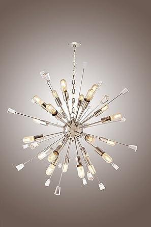 Mid century italian starburst chandelier 24 light edison bulb mid century italian starburst chandelier 24 light edison bulb sparkling sputnik mozeypictures Images