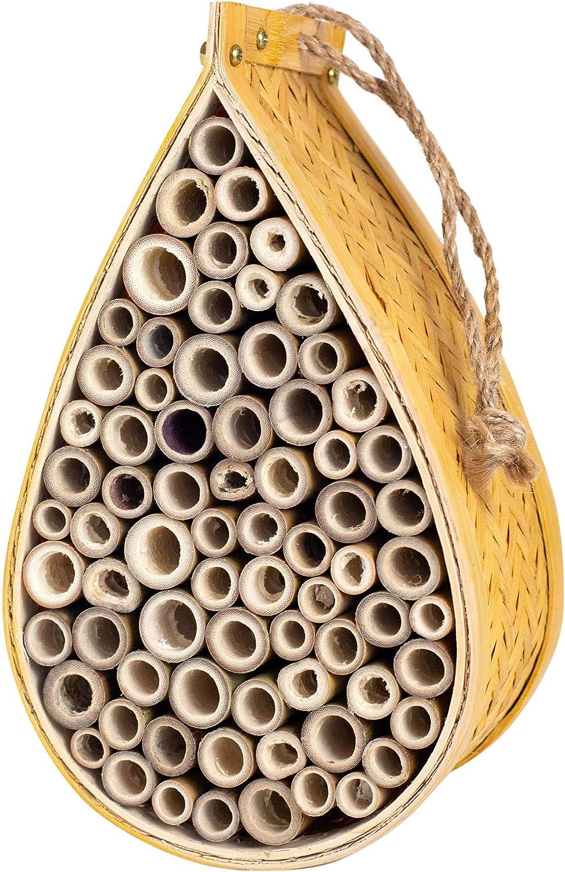 SunVara Wild Pollinator Mason Bee Habitat | Garden Bee House | Hanging Bee House