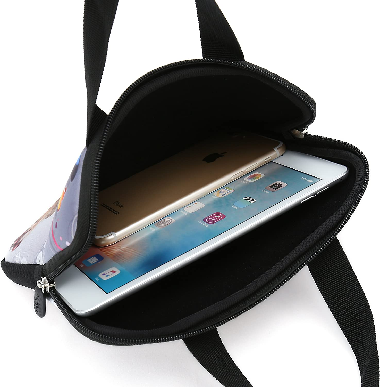 AUPET Purple Butterfly Universal 7~8 inch Tablet Portable Neoprene Zipper Carrying Sleeve Case Bag