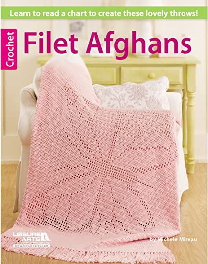 Leisure Arts Filet Afghans Book
