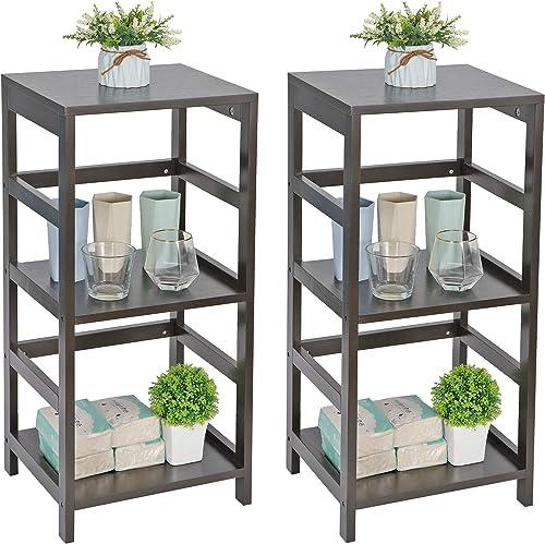 ZENY 3-Shelf Open Wood Shelving Unit