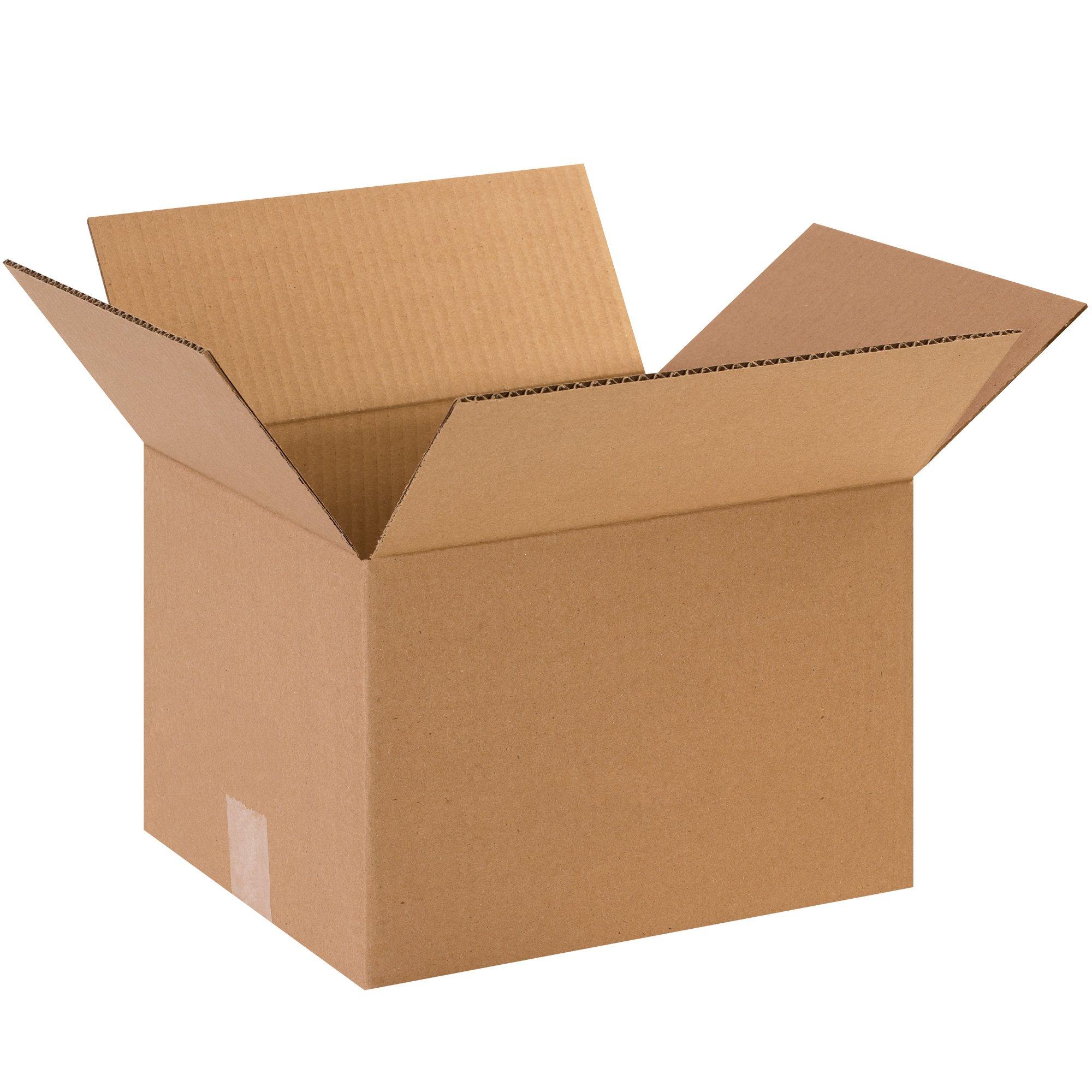 BOX USA B121081000PK Corrugated Boxes, 12''L x 10''W x 8''H, Kraft (Pack of 1000)