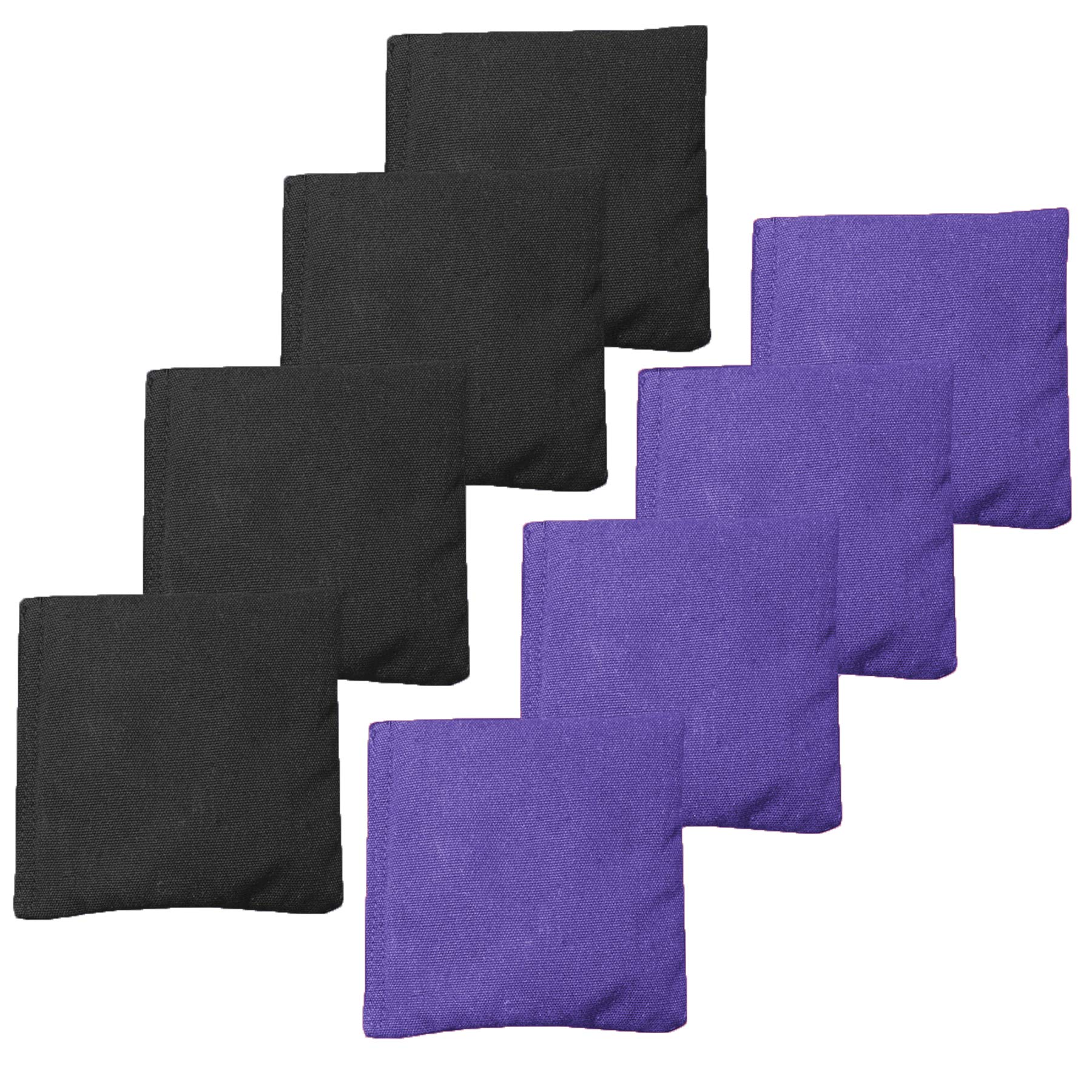 Weather Resistant Cornhole Bean Bags Set of 8 - Regulation Size & Weight - Purple & Black by Play Platoon