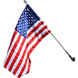 Valley Forge Flag 2.5 x 4 Foot Nylon US American Flag Kit with 5-Foot Aluminum Spinning Pole and Bracket