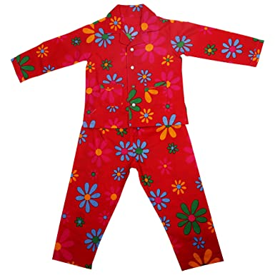 Needybee 100 Organic Cotton Red Floral Print Full Sleeves