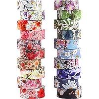 Gukasxi Washi tape, set van 20 rollen voor bloemen, Washi, afplaktape, decoratief plakband voor scrapbooking…