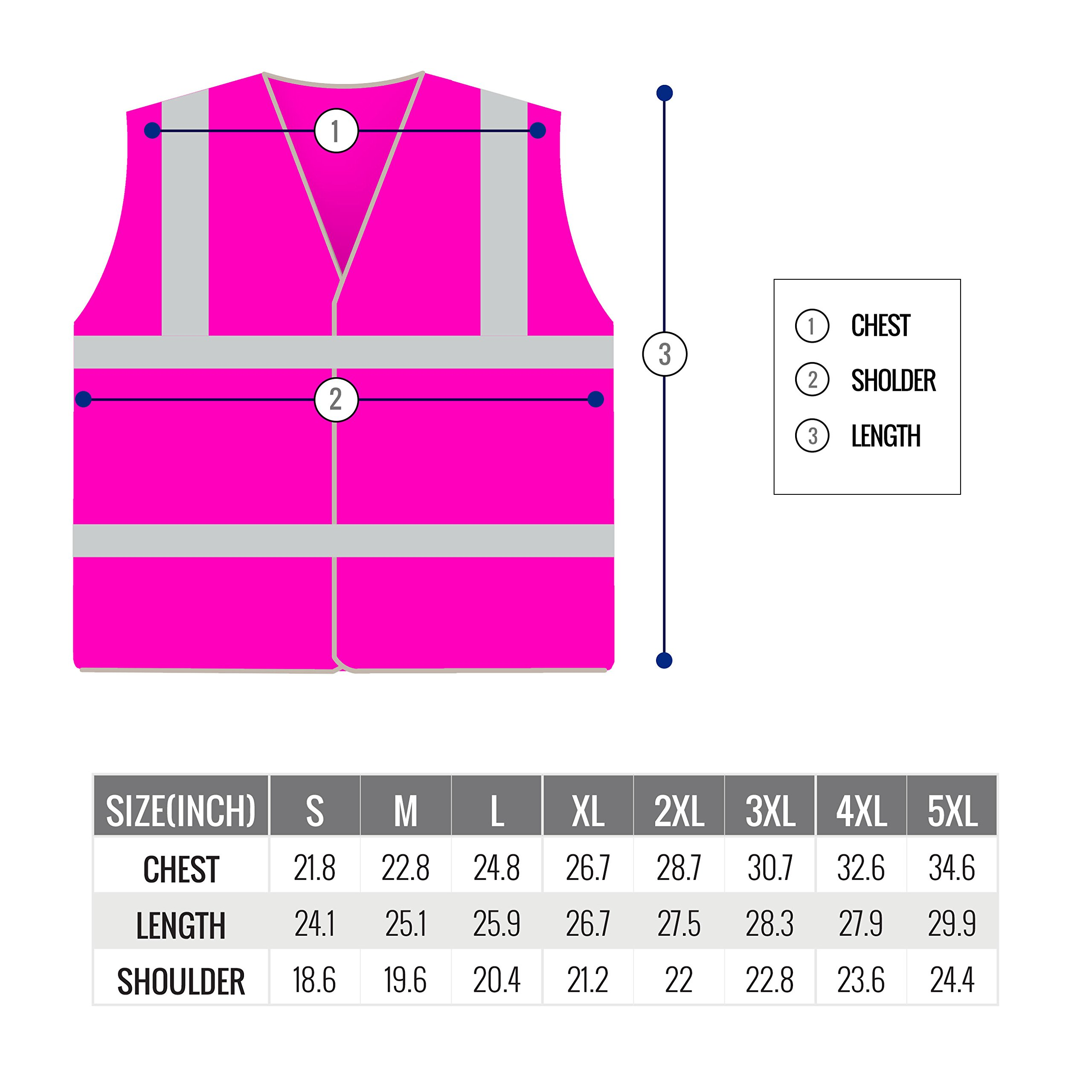 RK Safety PK0430 ANSI/ISEA Class 2 Certified Female Safety Vest (Pink, Medium) by New York Hi-Viz Workwear (Image #4)