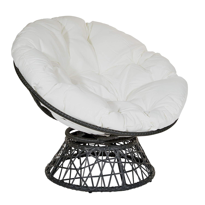 OSP Designs BF25292-11 Papasan Chair, White