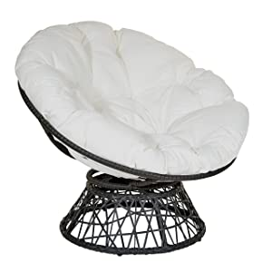 OSP Designs BF25292-11 Papasan Chair, White
